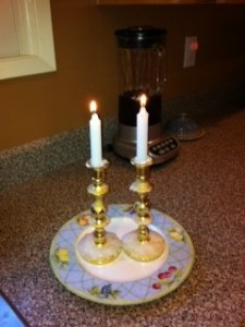 shabbat candle sticks photo